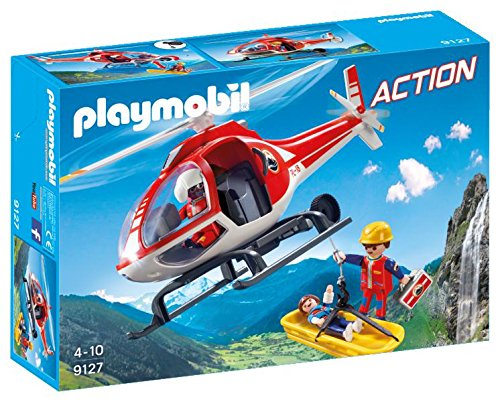 PLAYMOBIL 9127 Mountain Rescue (Rescue Helicopter Playmobil)