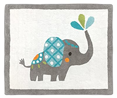 Girl or Boy Accent Floor Rug Bedroom Décor for Mod Elephant Kids Bedding Collection