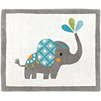 Sweet Jojo Designs Girl or Boy Accent Floor Rug Bedroom Decor for Mod Elephant Kids Bedding Collection