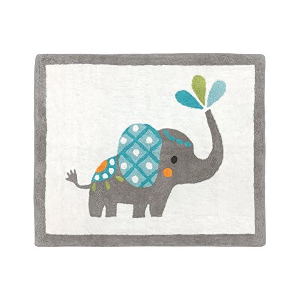 Sweet Jojo Designs Girl or Boy Accent Floor Rug Bedroom Decor for Mod Elephant Kids Bedding Collection