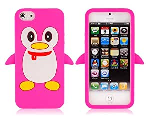 Penguin Pattern Protective Case for iPhone 5 (Pink)