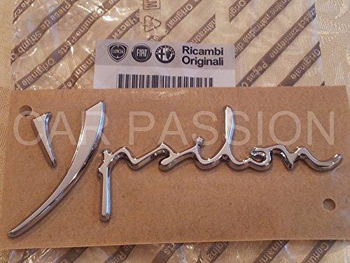 SCRITTA STEMMA LANCIA YPSILON Y FINO AL 2011 ORIGINALE POSTERIORE logo SIGLA FREGIO