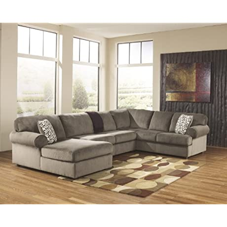 Jessa Place Dune Fabric Upholstery 3 Pc Sectional With Left Arm Facing Chaise