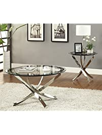 Coaster Home Furnishings 702588 Contemporary Coffee Table, Chrome Part 79