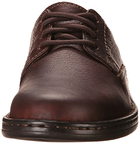 Clarks Mens Kyros Plain Casual Shoe Brown Tumbled Leather