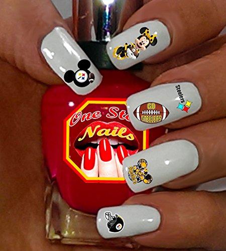 Pittsburgh Steelers water-slide nail decals -