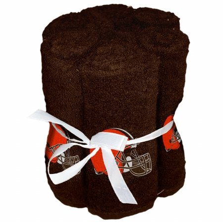 NFL Cleveland Browns 6 Pack Washcloth Set by The Northwest Company