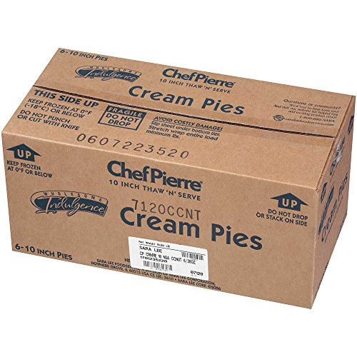 Coconut Custard Pie - Sara Lee Chef Pierre Coconut Cream Pie, 28 Ounce -- 6 per case.