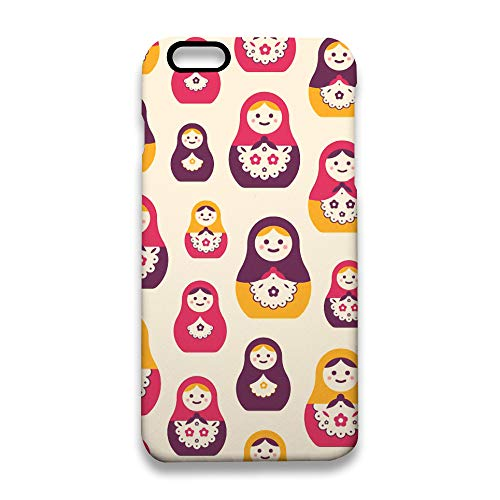 - New Russian Matryoshka Nesting Dolls iPhone 6S Plus Case, TPU Shell Soft Feeling Full Protective Anti-Scratch Anti-Fingerprint iPhone 6 PlusCase White
