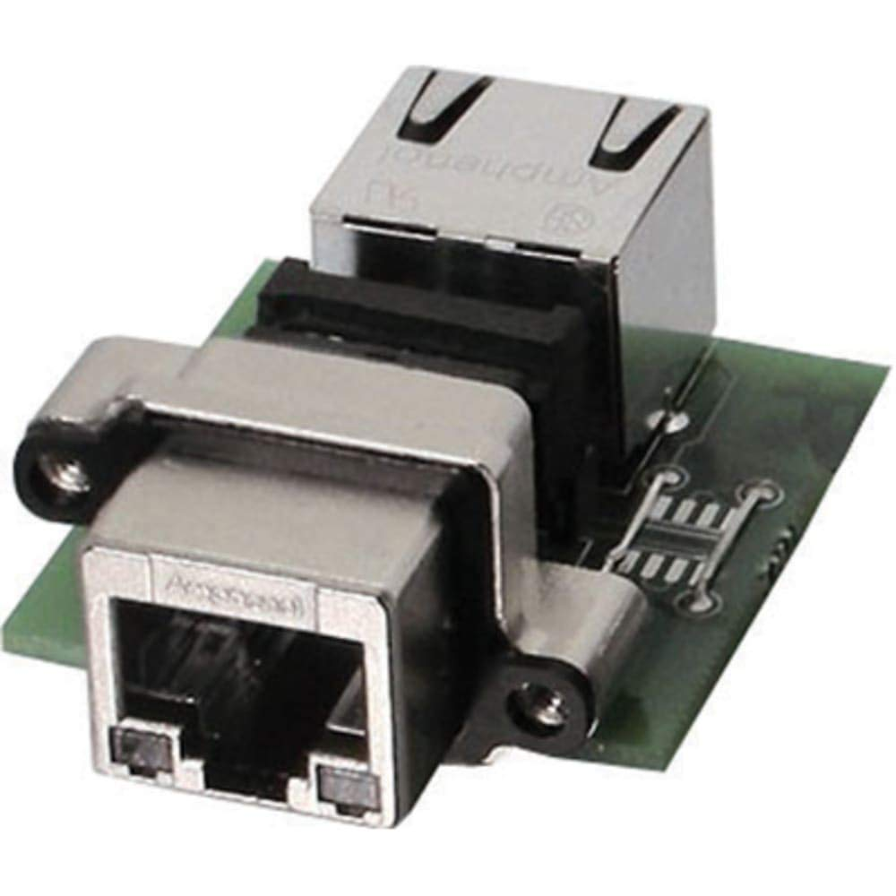 connector; rj45 receptacle; pcb mount; right angle; w/rj 45 termination; no leds; ip67, Pack of 2