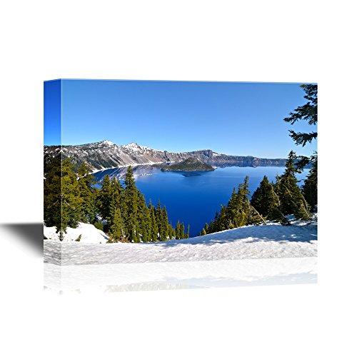 USA Landmarks Gorgeous Crater Lake on a Spring Day Oregon Usa Gallery