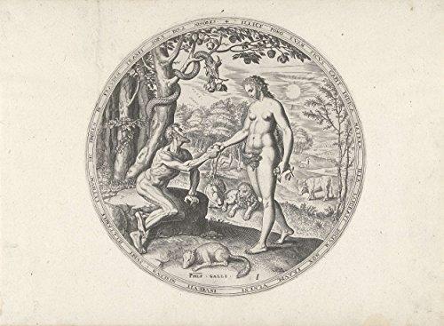 classic-art-poster-eva-biedt-adam-de-verboden-vrucht-aan-philips-galle-c-1569-24x175