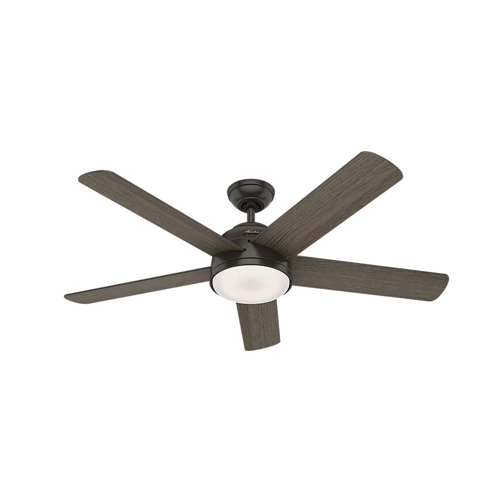 Hunter Indoor Wifi Ceiling Fan with LED Light and remote control - Romulus 54 inch, Nobel Bronze, 59479 by Hunter Fan Company