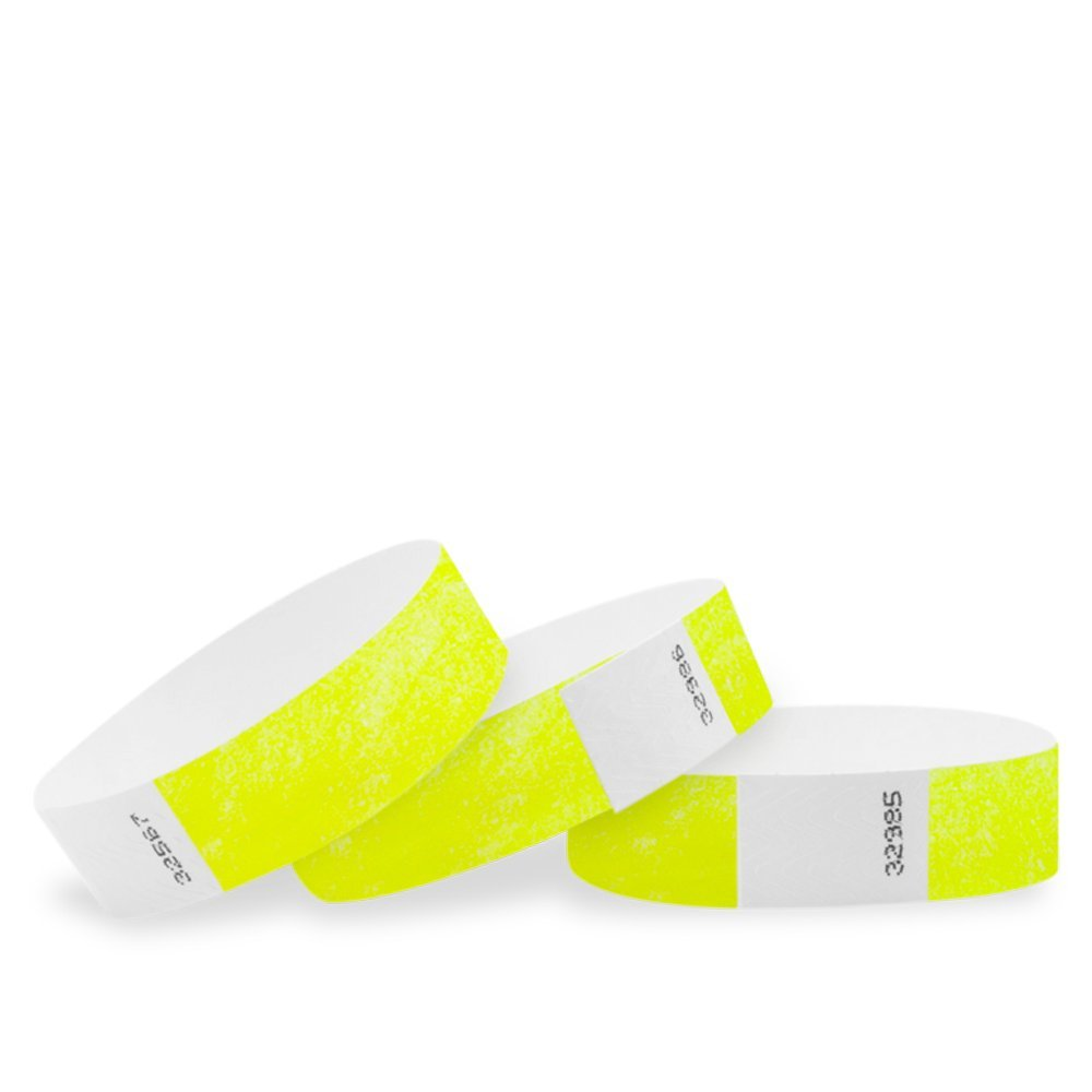 3/4 Tyvek Solid Color Wristbands - Pack of 500 - Secure Paper-Like Admission Band for Events by myZone Printing (Purple)