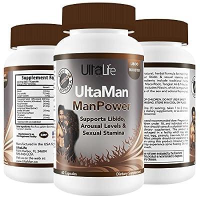#1 BEST LIBIDO ENHANCER For Men - Powerful Male Enhancement Pills for Increasing Size, Stamina, Endurance & Pleasure w/ Horny Goat Weed, Tribulus Terrestris, Niacin + Heightens Sensation & Hardness