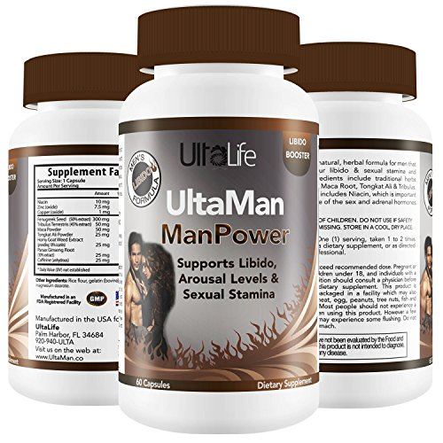 BEST LIBIDO ENHANCER For Men – Boosts Stamina, Endurance, Performance, Sexual Energy & Pleasure w/ Horny Goat Weed + Tribulus + Niacin + Maca for Better Erections, Passion & Sex Drive – Made in USA