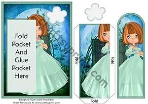 Teal Shimmers–Marcador de libros con tarjeta de bolsillo por Kylie-Jayne Blacklaws