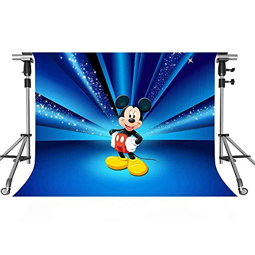 Mickey Mouse Background - MEETS 10x7ft Disneyland Backdrop Cartoon Character Mickey Mouse Photography Background Themed Party Photo Booth YouTube Backdrop GEMT871