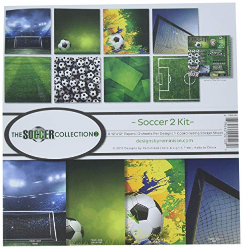 Reminisce The The Soccer Collection 2 Scrapbook Kit