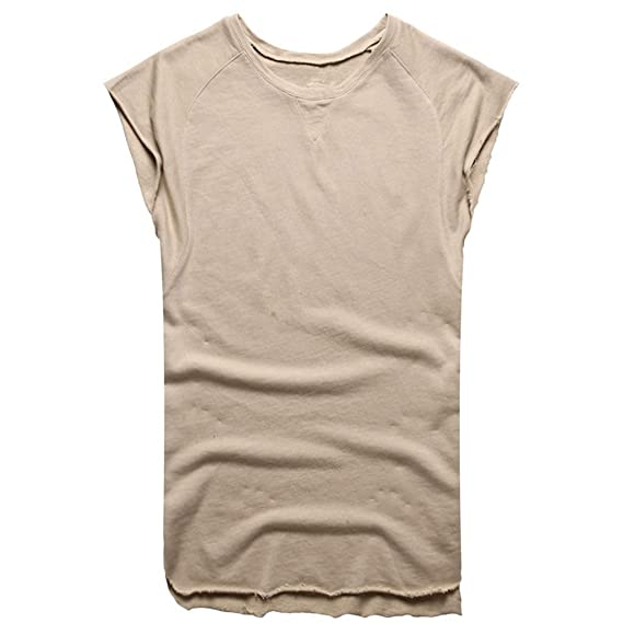 Amazon.com: YKARITIANNA Fashion Mens Summer Baggy Solid Sleeveless O-Neck T Shirts Tops Blouses 2019: Clothing