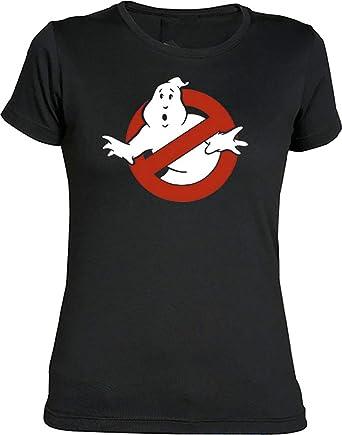 Camisetas EGB Camiseta Chica Cazafantasmas ochenteras 80Žs Retro: Amazon.es: Ropa y accesorios