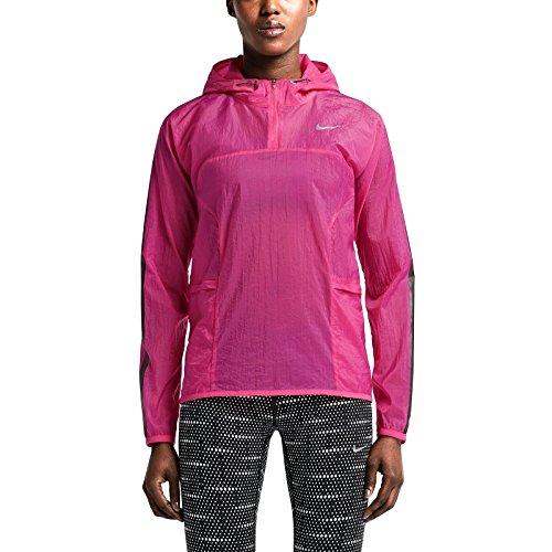 Nike Transparent Woven Women's Running Jacket, Hot Pink, (Running Woven Jacket)