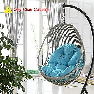 HOMRanger (Solo Cuscino) Uovo di Impiccagione Sedia Cuscino di Seduta,Amaca Senza Stand Morbido Thicken con Cuscino… 2 spesavip