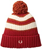 Fred Perry Men's Tipping Stripe Beanie, Blood, One Size