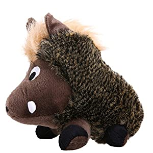 Kuoser Warthog Pet Toy , Squeaky Dog Toy, Stuffed Plush Puppy Dog Chew Toy for Small Medium Dogs, Warthog