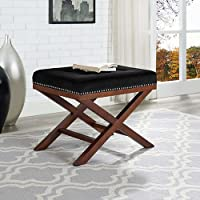 Modway EEI-2571-BLK Facet Bench Wood, Black