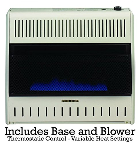 Please see replacement Item# 49195. ProCom Blue Flame Vent-Free Wall Heater - 30,000 BTU Output, 1000 Sq. Ft. Heating Capacity, Model# MD300TBA (Gas Wall Heater Ventless)