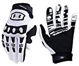 Seibertron Dirtpaw Unisex BMX MX ATV MTB Racing Mountain Bike Bicycle Cycling Off-road/Dirt bike Gloves Road Racing Motorcycle Motocross Sports Gloves Touch Recognition Full Finger Glove White L