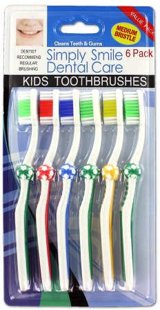 Bulk Buys Childrens soccer toothbrushes Case Of 24