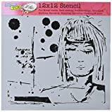 CRAFTERS WORKSHOP TCW617 Template, 12'' x 12'', Dream Girl, White