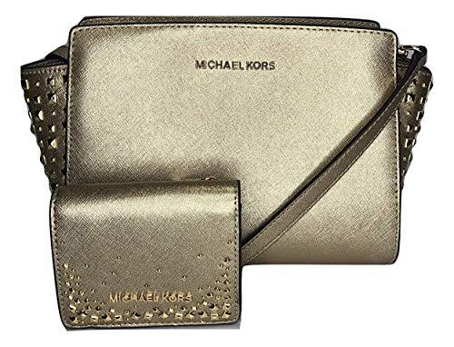 6c0c7929c91265 MICHAEL Michael Kors Selma Stud MD Messenger Crossbody bundled with Michael  Kors Flap Card Holder Wallet