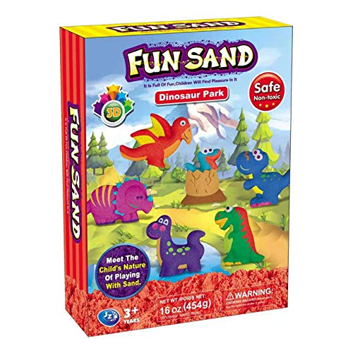 Sand Art Kit for Kids Dinosaur Toys Play Sand Set for Toddlers Boys Girls Age 3 4 5 6 7 8 9 Year Olds STEM DIY Creative Toys