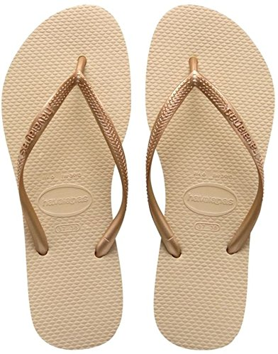 5905b63ad Havaianas Women s Havaianas Hav Slim Gold 4000030.2719.356 Sand Grey   Light  Golden Rubber Flip Flops 3-4 UK 35-36 BR - Buy Online in UAE.