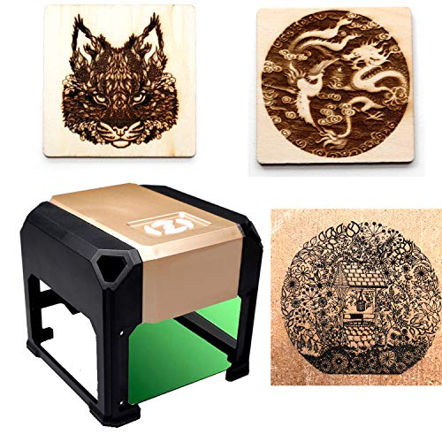 laser engraving machine Laser Engraver Printer 3000mW Mini desktop laser engraver machine DIY Logo laser engraver (3000mW) by NiocTech (Image #5)