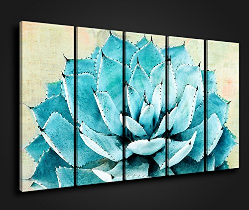 Green XLarge Fresh Natural and More Meat Plants Overlooking the Aloe Vera Flower Radiation Crowns Logical Beauty Shock Effect Decorative Wall Painting Prints on Canvas Ready to Hang (Plant Decorative Aloe Vera)