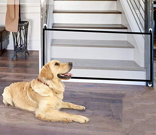 BTkviseQat Dog Barriers, Portable Dog Door Safety Gate, Foldable Dog Safety Gate, Stair Gate, Barrier Gate, for Pet Dogs…