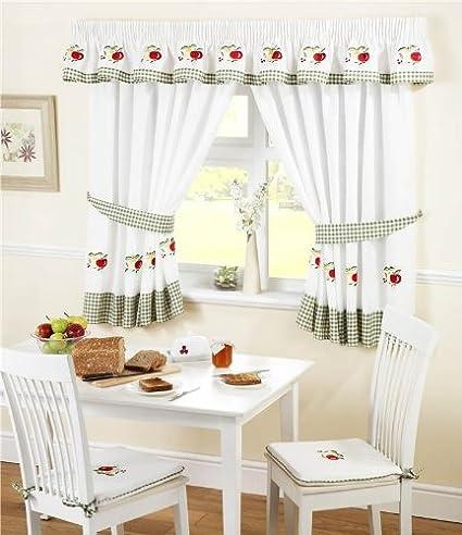 frutta plissettate cucina tende e fermatenda, rosso/bianco, 46 x 106 ...