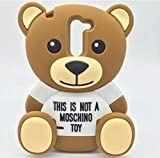 kangweichuang LG Tribute 5 Case,LG Escape 3 Case,3D Cartoon Moschino Baby Bear Teddy Back Cover Back Cover Soft Silicone Case for LG K7 / LG Tribute 5 / LG Escape 3