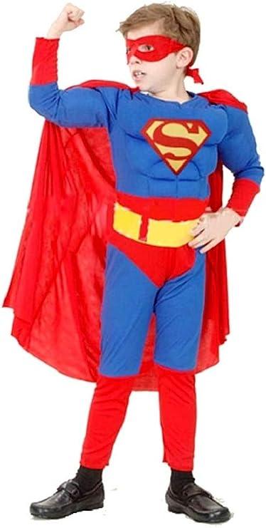 Disfraz de superhéroe niño altura muscular 110 / 120cm 4/6 años ...