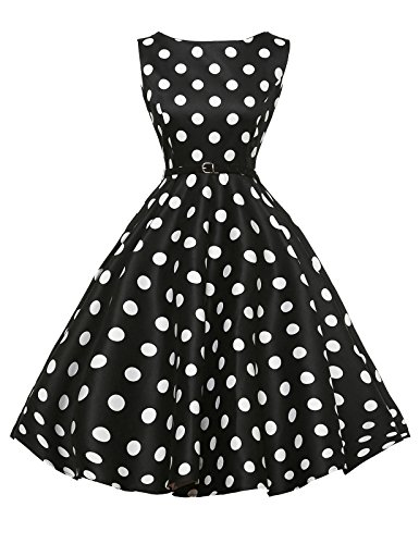 Sleeveless 50s Vintage Dresses for Women with Belt Size 2X F-8