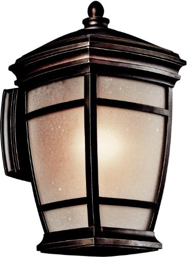Kichler 49271RZ McAdams Outdoor Wall 1-Light, Rubbed Bronze