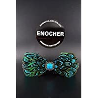cc6a96f2f024 Black And Blue Peacock Feathers Inlaid Stones Bow Tie,Men Bow Tie,BowTie,