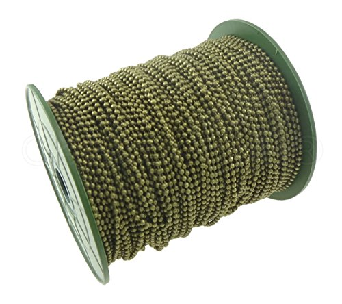 CleverDelights Ball Chain Spool - 330 Feet - Antique Bronze Color - 2.4mm Ball - #3 Size - 100 - Bronze Color Copper