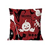 Halloween Pillow Case Pgojuni Throw Pillow Cover Cushion Polyester Cover Pillow Case Home Decor 1pc (45cm X 45cm) (I)