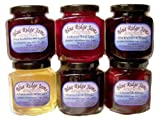Blue Ridge Jams: Brandy Preserves and Wine Jelly Variety Pack, Set of 6 (10 oz Jars)