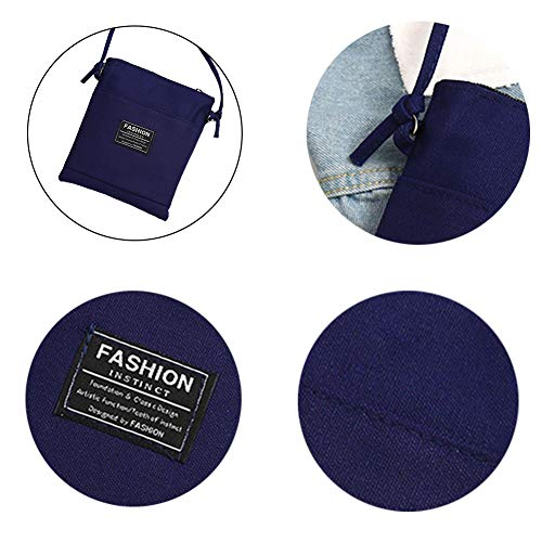 zip Blu Messenger caramella Fashion morbido tessuto monospalla della borsa canvas multicolored S Candy bag Charma Borsa Bag Tibetano Colore pTfqPf